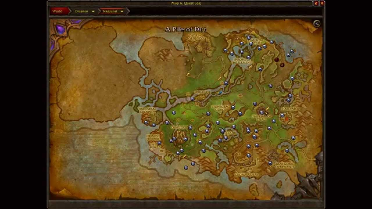 Treasure Maps - Warlords of Draenor - YouTube