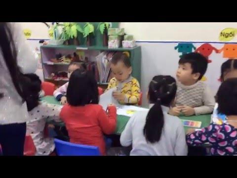 Hoạt động tạo hình lớp mẫu giáo S4b Trường mầm non Ngôi sao xinh
