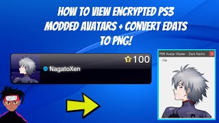 How To View Encrypted PS3 Modded Avatars On PC + Convert Edats To PNG!