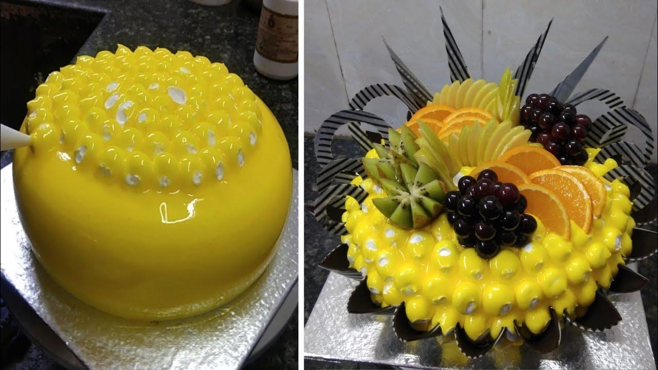 Pineapple Fruit Cake Design |Pineapple Fruit Cake Recipe |Pineapple Fruit Cake |New Cake Wala