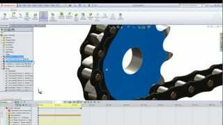 Animated Chain in SolidWorks