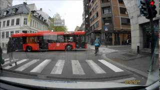 En syklists arrogante oppførsel i trafikken - Oslo sentrum