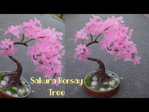 Cara Mudah Membuat Bunga Sakura Dari Plastik Shopping Bag Youtube