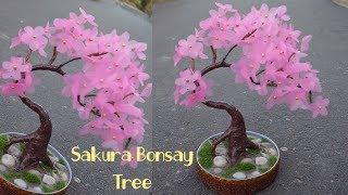 Cara mudah membuat Bunga Sakura dari Plastik Shopping bag !