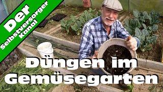 Düngen im Gemüsegarten