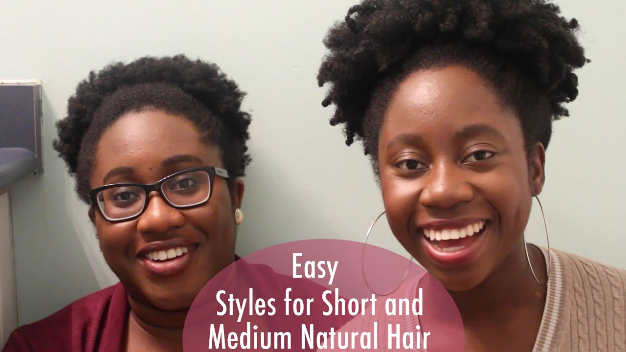 Easy Styles For Short And Medium Length Natural Hair 4c Natural