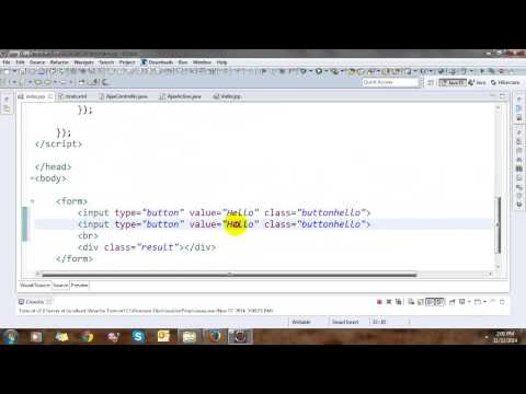 Ajax and JSON In Struts 2 - YouTube