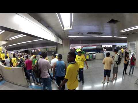 GoPro   Brazil vs Croatia   World Cup 2014   Subway Itaquera Station   June 12st second vídeo