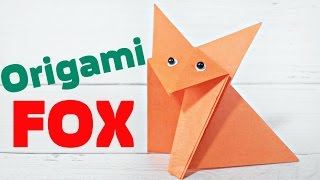 Origami fox easy tutorial zoo animals 3d instructions.Origami diagrams for children, for beginners