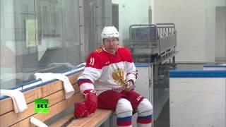 Владимир Путин провел в Сочи тренировку по хоккею