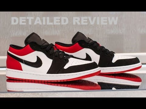 a8cfc3502246 Air Jordan 1 Low Black Toe 2019  Nike SB  Retro Shoes Detailed Look   Sneakers
