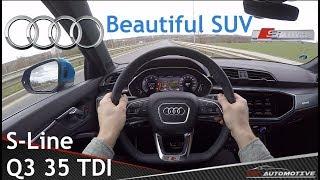 Audi Q3 35 TDI S-Line (2019) POV Test Drive + Acceleration 0 - 160 km/h