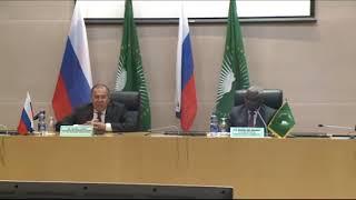 Пресс-конференция С.Лаврова и М.Факи Махамата