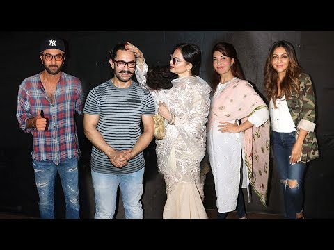 Secret Superstar Movie GRAND Screening Full Video HD-Aamir,Rekha,Ranbir,Jacquiline