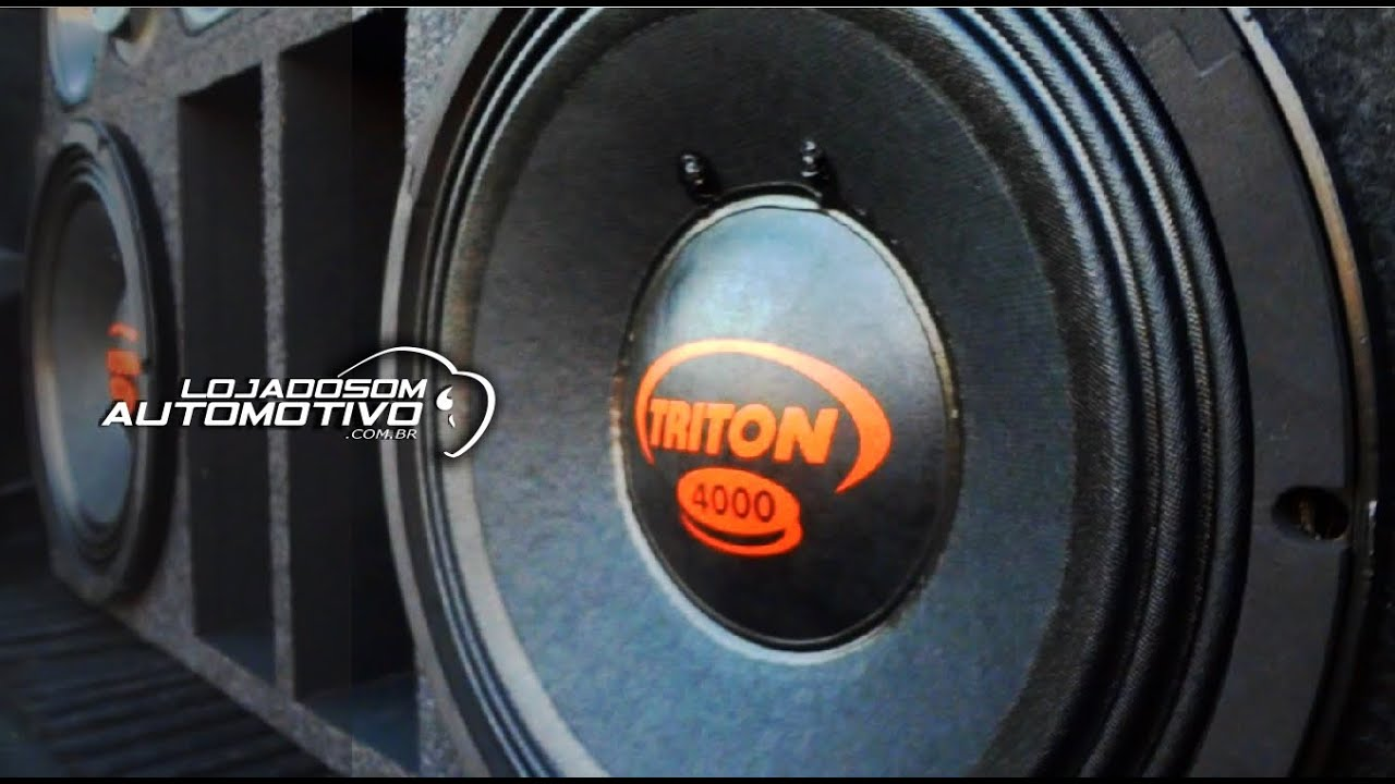 92e7e8250 Alto Falante Woofer Triton 4000 rms Plug and Play 12 Polegadas - YouTube