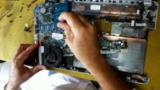 limpeza do cooler do dissipador notebook hp g42 que estava esquentando rogrio flash computer