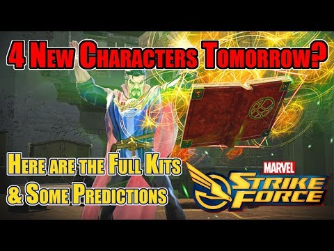 Marvel Strike Force - Update Finishing Tomorrow? New Kits for Dr Strange, Vision, Loki & Star Lord