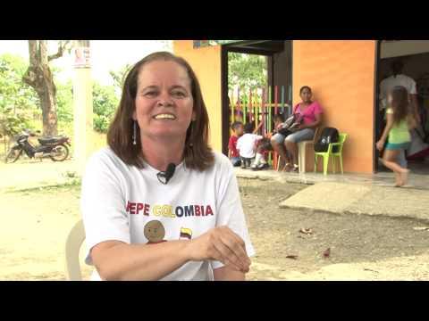Colômbia: oração de um menino