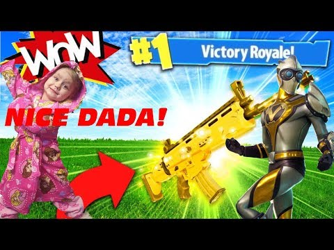 Victory Royale With My Kid In Room! Good Job Dada!