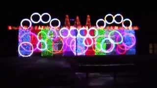 WMS Christmas Light Show Celebrate Wavin Flag Christmas Lights