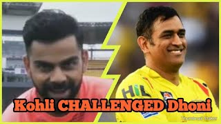 Kohli challenges Dhoni  for a 3 run race between the wickets