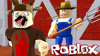 Roblox Adventures / Escape the Evil Farm Obby! / FARMER KILLS MOOSES?!