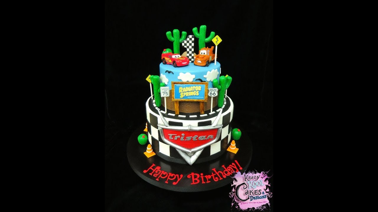 Cars Birthday Cake YouTube