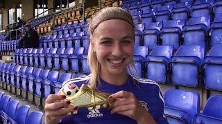 Women's Football Diaries 2014. 100,000 YouTube Views Award Ft. Jackie Groenen. Chelsea Ladies F.C