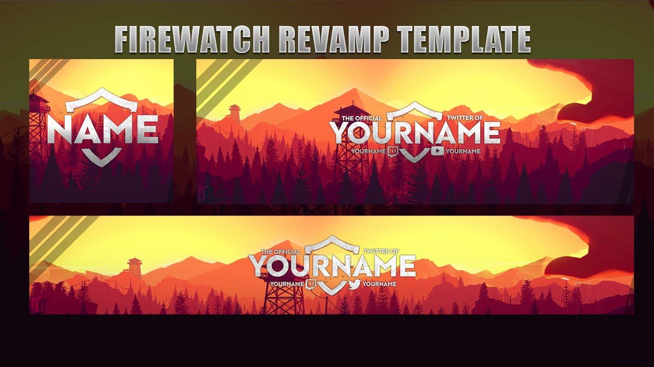 free gfx  firewatch revamp template  banner  logo  header   2016