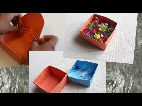 How to make a paper origami box || #Origamibox #box #origami