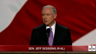 Sen. Jeff Sessions Speaks at Republican National Convention (7-18-16)