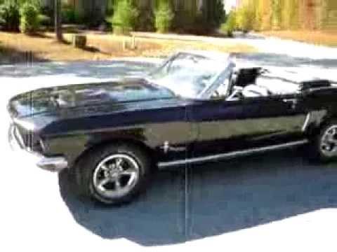 1968 Mustang Convertible Black Cherry  YouTube