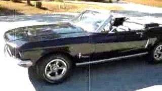 1968 mustang convertible black cherry