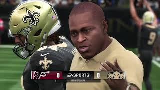 Madden 19 New Orleans Saints vs Atlanta Falcons Madden NFL 19 Gameplay (Xbox One)