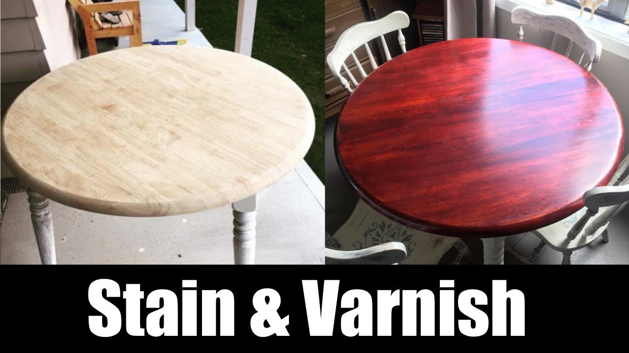 Stain and varnish a table with NO STREAKS home diy