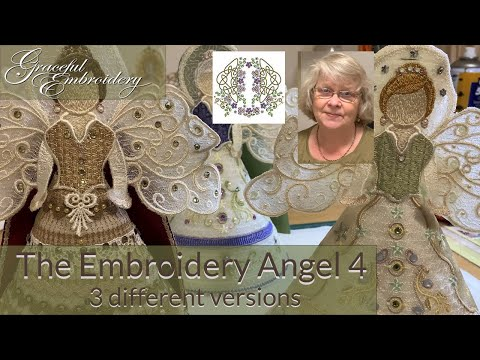 The Embroidery Angel 4: three different variations