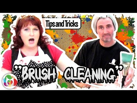 Brush washing 101 with The Art Sherpa How to clean acrylic paint out of  your  brush