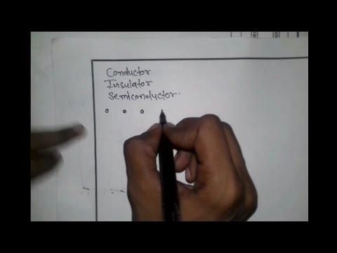 Conductor Insulator And Semiconductor In Hindi 2017