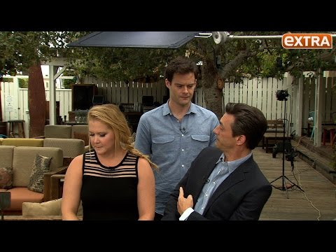 Jon Hamm Pretends to Be Bill Hader in Our 'Trainwreck' Interview with Amy Schumer