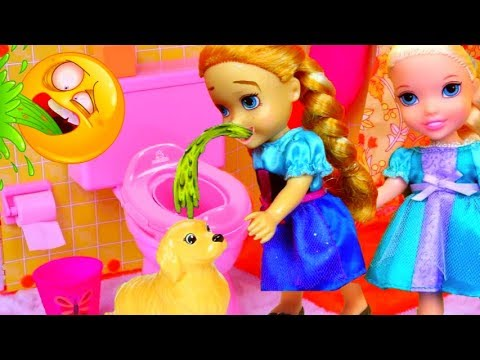 Download VERY SICK ! Elsa & Anna toddlers - Little Anna is Sick - PUKES Everywhere !