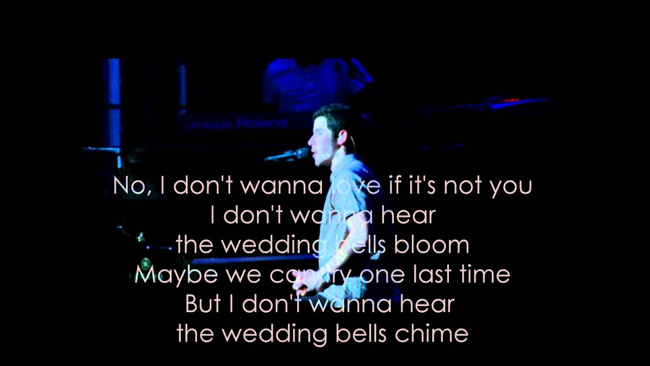 Jonas Brothers Wedding Bells Lyrics On Screen