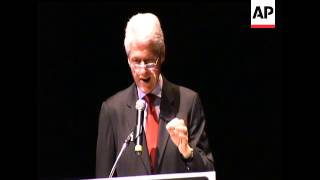 Former President Bill Clinton was in New Orleans for the graduation of 37 High School students who a