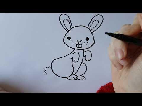 Een konijn – Tekenen met juf De Haan
