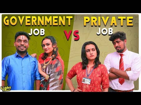 Government Job VS Private Job -- JOB Sothanaigal -- Light house - 동영상