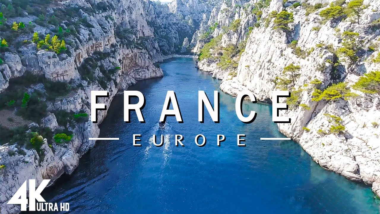 Download FLYING OVER FRANCE (4K UHD) - Relaxing Music Along With Beautiful Nature Videos - 4K Video UltraHD