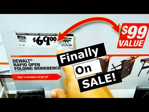 Home Depot Deals 2019 FINALLY DeWalt  DWST11556 Workbench On Sale!