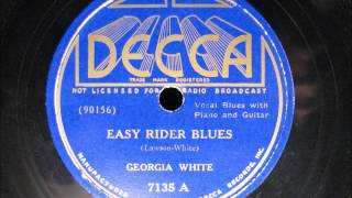 EASY RIDER BLUES by Georgia White BLUES 1935