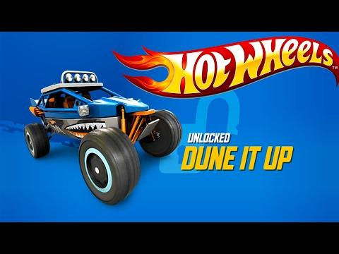 HOT WHEELS RACE OFF - NEW CAR UNLOCKED DUNE IT UP KIDS CAR CAME 2017