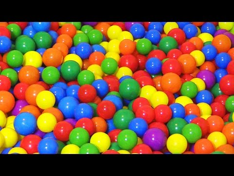 "Thumbnail: ""The Ball Pit Show"" for learning colors -- children's educational video"