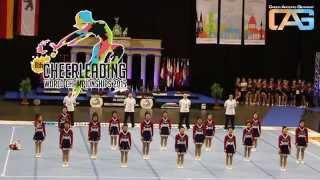 Team Japan Allgirl at CWC Finals Cheerleading World Championships 2015 in Berlin